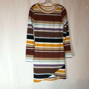 Multicolored Striped Bodycon Dress